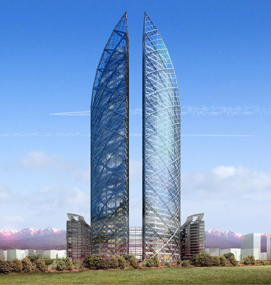 Almaty Twin Towers, Norman Foster, Kazakhstan