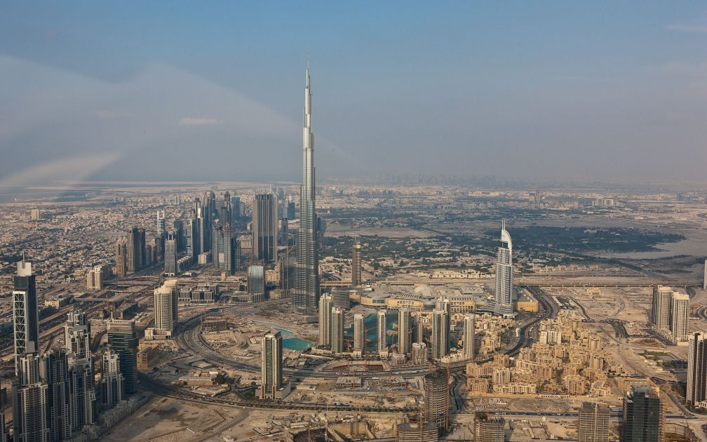 Burj Kalifa, world's highest inhabitable tower, Dubai
