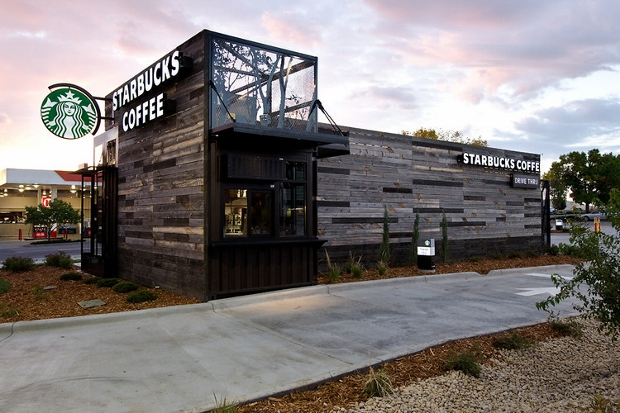 LEED Certified Starbucks in energy conscious Denver, CO