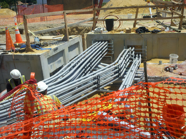 Conduit ductbanks, engineered for transmission of high voltage power, installed by contractors with resultant subtle engineering decisions, often left off of scope and spec.